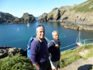 Ashore on Sark with Stuart and Bob