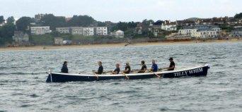 Gig rowing practice