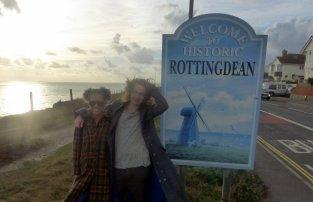 Tom and Kim, near Brighton