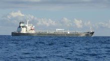 Tanker boat (friendly and gave weather forecast)