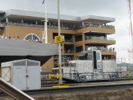 Crise ship Amsterdam in adjacent lock and Miraflores info centre for photo orgy
