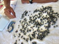 selection of black pearls