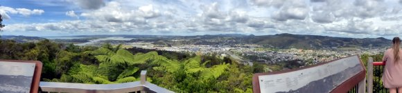 View of Whangarei from Mt Parihaka