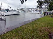 Exceptional spring tide at the marina