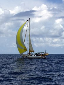 Sailing north, overtaken by 'Anemos'