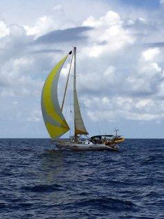 Sailing north, overtaken by 'Anemos'