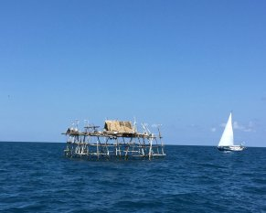 Numerous fishing platforms off Bangka